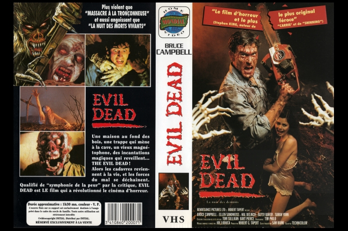 The Evil Dead 19?? Mondial Home Video VHS France
