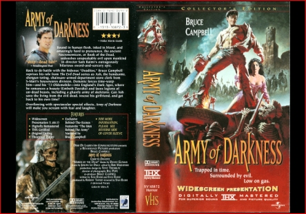 Army Of Darkness 1999 ANCHOR BAY COLLECTOR'S EDITION VHS U.S.A.